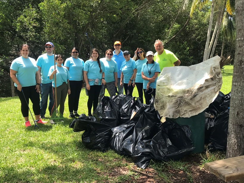 Trash free seas at Kennedy Park Clean Up Miami-Dade County